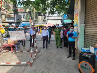 Dỡ phong tỏa hẻm 854 đường Thống Nhất, phường 15, quận Gò Vấp