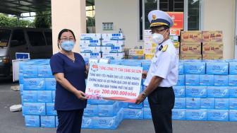 Tổng công ty Tân cảng Sài Gòn thăm lực lượng làm nhiệm vụ chống dịch tại TP.Thủ Đức