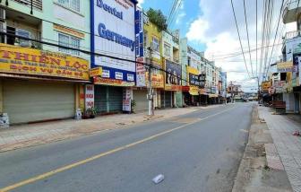 Bình Dương: Ngày đầu giãn cách tại nhiều địa phương, hàng quán đóng cửa, đường phố vắng lặng