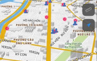 Phiên bản mới Bản đồ COVID-19 TPHCM thêm tiện ích