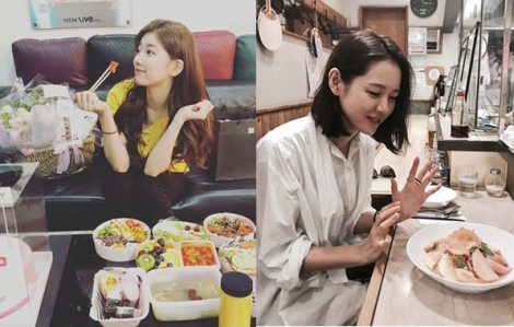 Suzy ăn kim chi ngừa mụn, Son Ye Jin ăn trái đào cho da mịn