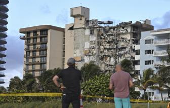 Sập chung cư ở Mỹ, gần 100 người mất tích vẫn chưa tìm thấy
