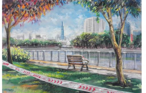 Sài Gòn những ngày giãn cách qua nét vẽ của hoạ sĩ Lê Sa Long