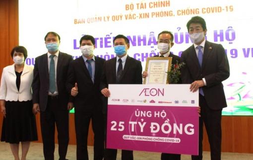Tập đoàn AEON trao 25 tỷ đồng đóng góp vào Quỹ Vắc-xin phòng, chống COVID-19 của Việt Nam