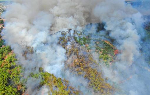 """Thừa Thiên - Huế: Hơn 1.000 cán bộ, chiến sĩ xuyên đêm vào rừng dập """"giặc lửa"""""""
