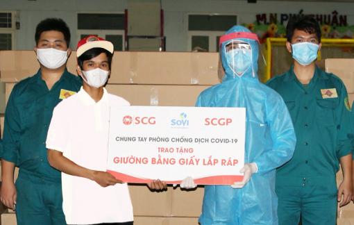 SCGP trao tặng các sản phẩm từ giấy nhằm phòng, chống dịch COVID-19