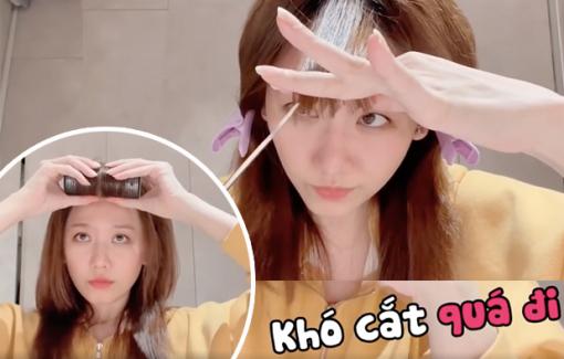 Hari Won 'mở salon' tại nhà, hướng dẫn cắt tóc cực dễ thực hiện