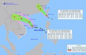2 áp thấp nhiệt đới cùng hoạt động trên Biển Đông, có khả năng mạnh lên thành bão