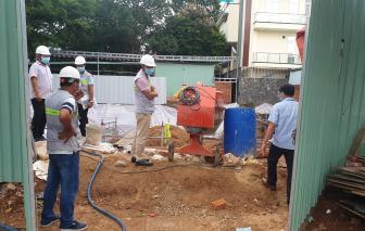 Xử lý 1 công trường xây dựng không đảm bảo phòng chống dịch