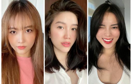 Tóc mới trẻ trung do chính sao Việt tự cắt trong mùa dịch