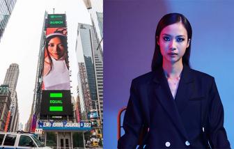 Nữ rapper Việt xuất hiện 2 lần trên banner tại Quảng trường Thời đại