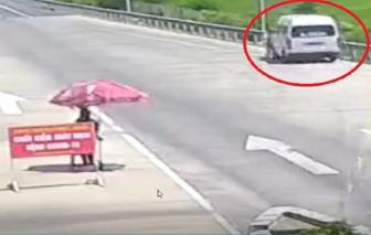 Khởi tố, bắt tạm giam tài xế ô tô húc CSGT tại chốt kiểm dịch