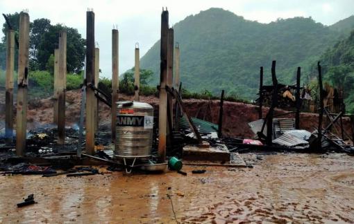 Quảng Trị: Hỏa hoạn thương tâm khiến hai cha con thương vong