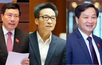 Quốc hội phê chuẩn bổ nhiệm 4 Phó Thủ tướng và 22 Bộ trưởng, trưởng ngành