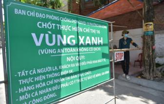 """Hà Nội thiết lập nhiều """"vùng xanh"""" kiểm soát như vùng dịch"""