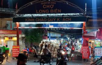 UBND quận Ba Đình bác bỏ thông tin phong toả chợ Long Biên