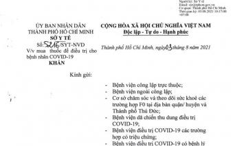 Vì sao Sở Y tế TPHCM hủy công văn chỉ đạo mua 2 loại thuốc điều trị COVID-19?