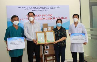 Hiệp hội Thương mại Mỹ tại Việt Nam tặng thiết bị y tế phòng, chống dịch COVID-19 cho TPHCM