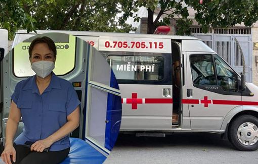 Nghệ sĩ Việt Hương tặng xe cho nhóm mai táng từ thiện