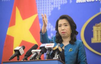 Việt Nam yêu cầu Trung Quốc chấm dứt tập trận tại quần đảo Hoàng Sa của Việt Nam
