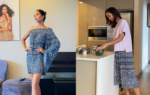 Hoa hậu H'Hen Niê gây sốt khi biến quần mẹ mua thành váy sang chảnh