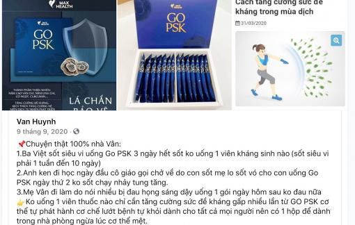 """Tràn lan sản phẩm tự quảng cáo là """"thần dược trị COVID-19"""""""