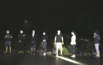 Bình Phước bắt giữ 8 đối tượng vượt biên trái phép qua Campuchia