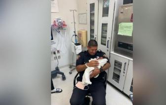 Mỹ: Cảnh sát cứu sống em bé 1 tháng tuổi bị ném từ tầng 2
