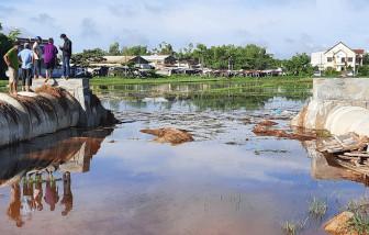 """Quảng Nam: Dự án bất động sản mọc lên, nhà cửa, ruộng vườn của dân thành """"hầm"""" chứa nước"""