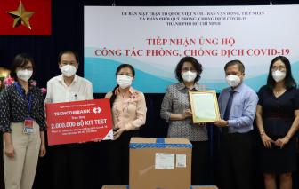 TPHCM tiếp nhận 4 triệu bộ kit xét nghiệm COVID-19