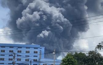Vụ cháy trong Khu công nghiệp Nam Tân Uyên: Hơn 3.000 m2 nhà xưởng bị thiêu rụi