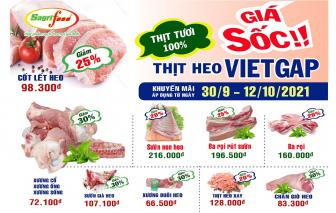 Giá sốc thịt heo VietGAP Sagrifood