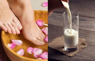 Ngâm chân, uống sữa ấm trước khi ngủ giúp đẹp da