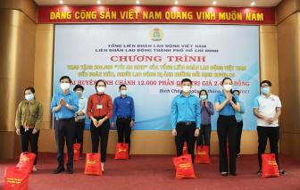 Tặng 12.000  túi an sinh cho công đoàn viên, người lao động