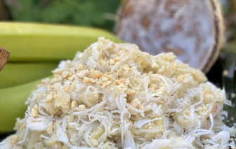 Về quê ăn chuối quết dừa