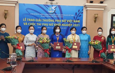 TPHCM có 2 cá nhân và 2 tập thể nhận Giải thưởng Phụ nữ Việt Nam năm 2021