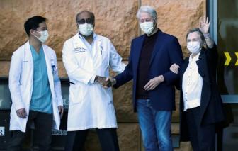 Cựu Tổng thống Bill Clinton xuất viện sau 5 ngày bệnh nhiễm trùng