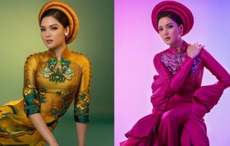 """Đại diện Việt Nam tại """"Hoa hậu Trái đất"""" chăm diện áo dài để quảng bá"""