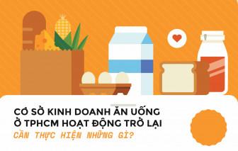[Infographic] 11 tiêu chí để mở cửa dịch vụ ăn uống, kinh doanh thực phẩm ở TPHCM