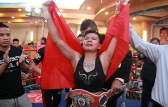 Cô bé bán vé số Thu Nhi đã trở thành nhà vô địch WBO thế giới