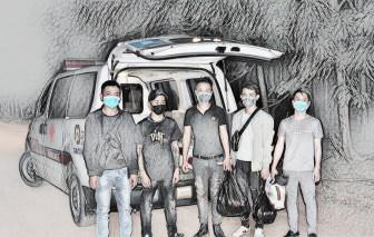 Bắt giữ 5 thanh niên vượt biên trái phép sang Campuchia