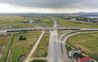 Toàn cảnh cao tốc Cao Bồ - Mai Sơn chuẩn bị thông xe